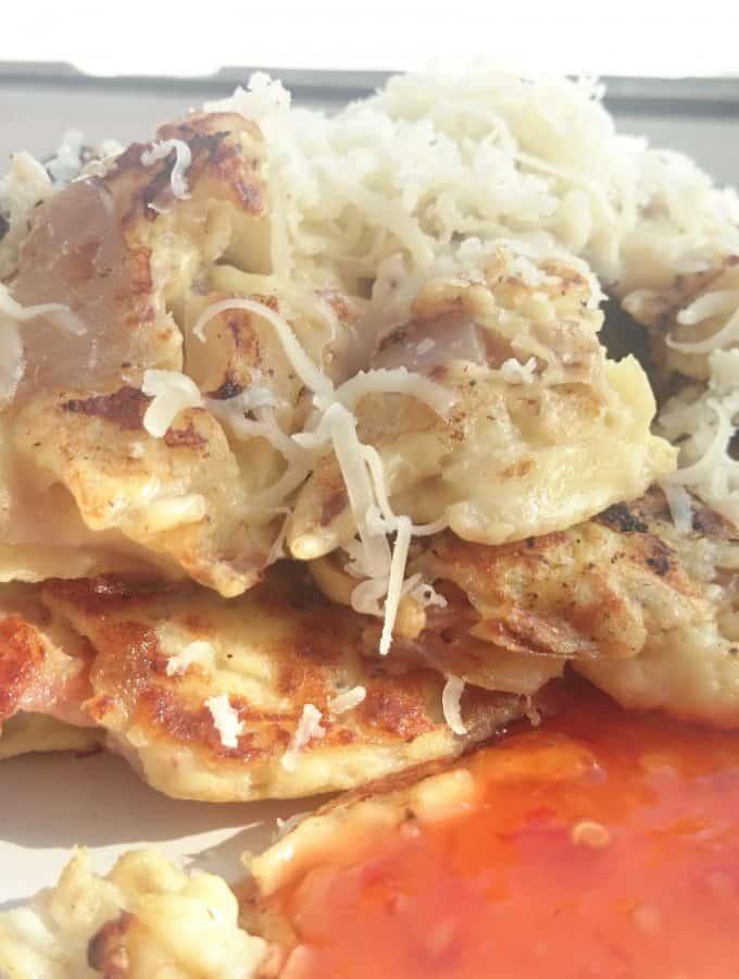 Breakfast Farmhouse Style Cheese Onion & Bacon Potato Cakes