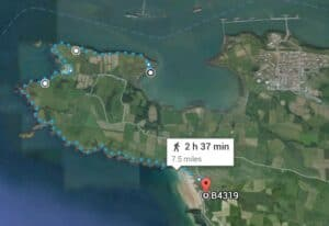 Walk Along Angle Peninsular Before Heading Back to our Starting Point