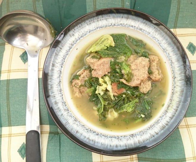 Antonio Carluccio Inspired Healthy Italian Kale, Cheese & Bread Poorman's Soup Recipe – Serves 4
