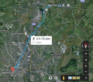 My Longest Fitbit Walk: 50,000 Steps/22 Miles Along Coventry & Ashby De La Zouch Canal