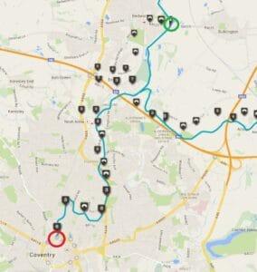 My Longest Fitbit Walk: 50,000 Steps/22 Miles Along Coventry & Ashby De La Zouch Canal