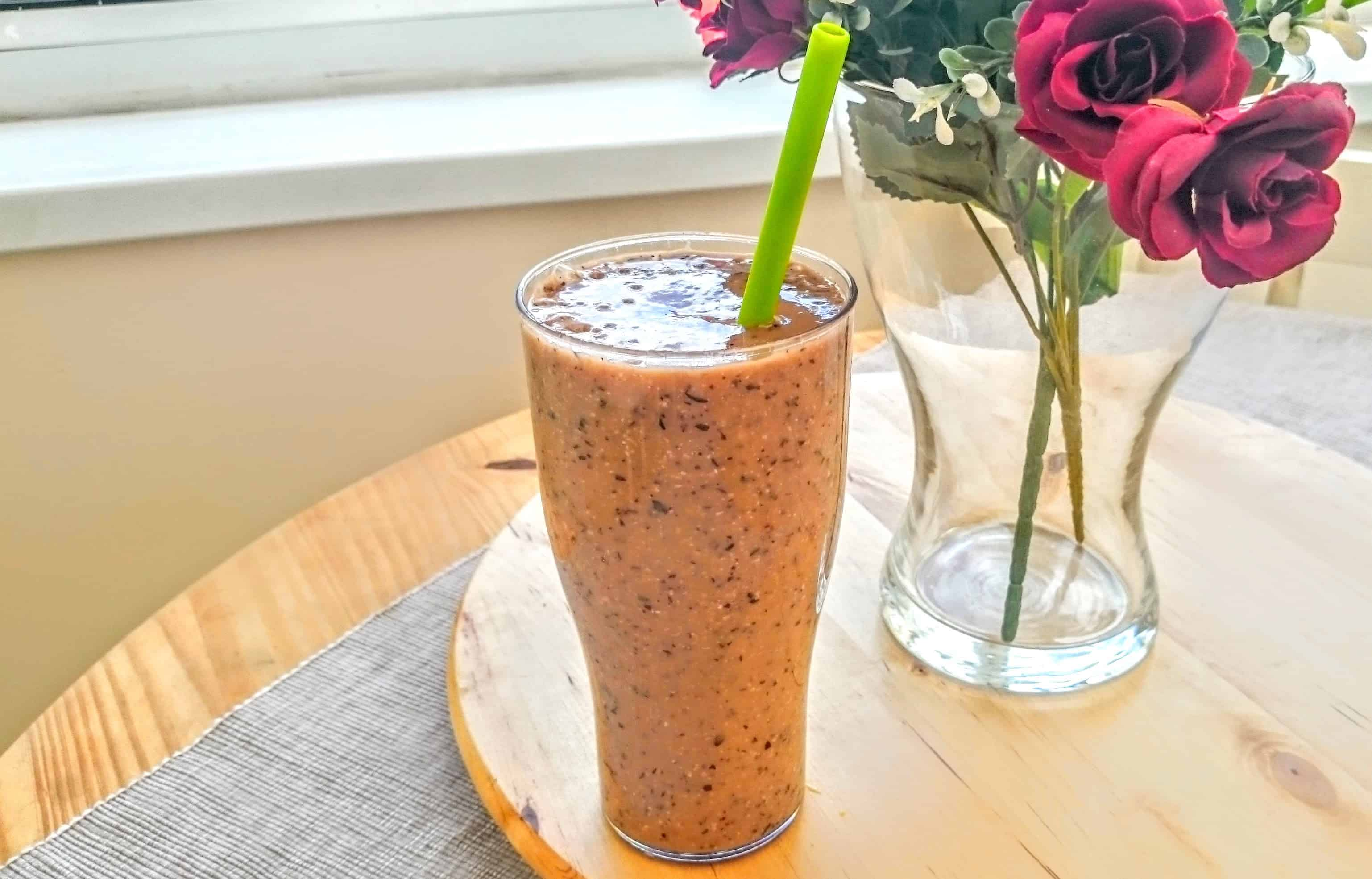 Vegan Blueberry & Mango Oaty Breakfast Smoothie Recipe for One