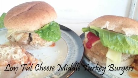 My Syn Free Slimming World Friendly Cheese Melt in the Middle Stuffed Turkey Burgers Recipe (Juicy Lucy)