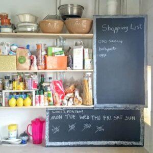 Boiler cover daily meal chalk black board planner