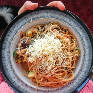 Salmon Spaghetti Carbonara - Slimming World Syn Free Recipe for One