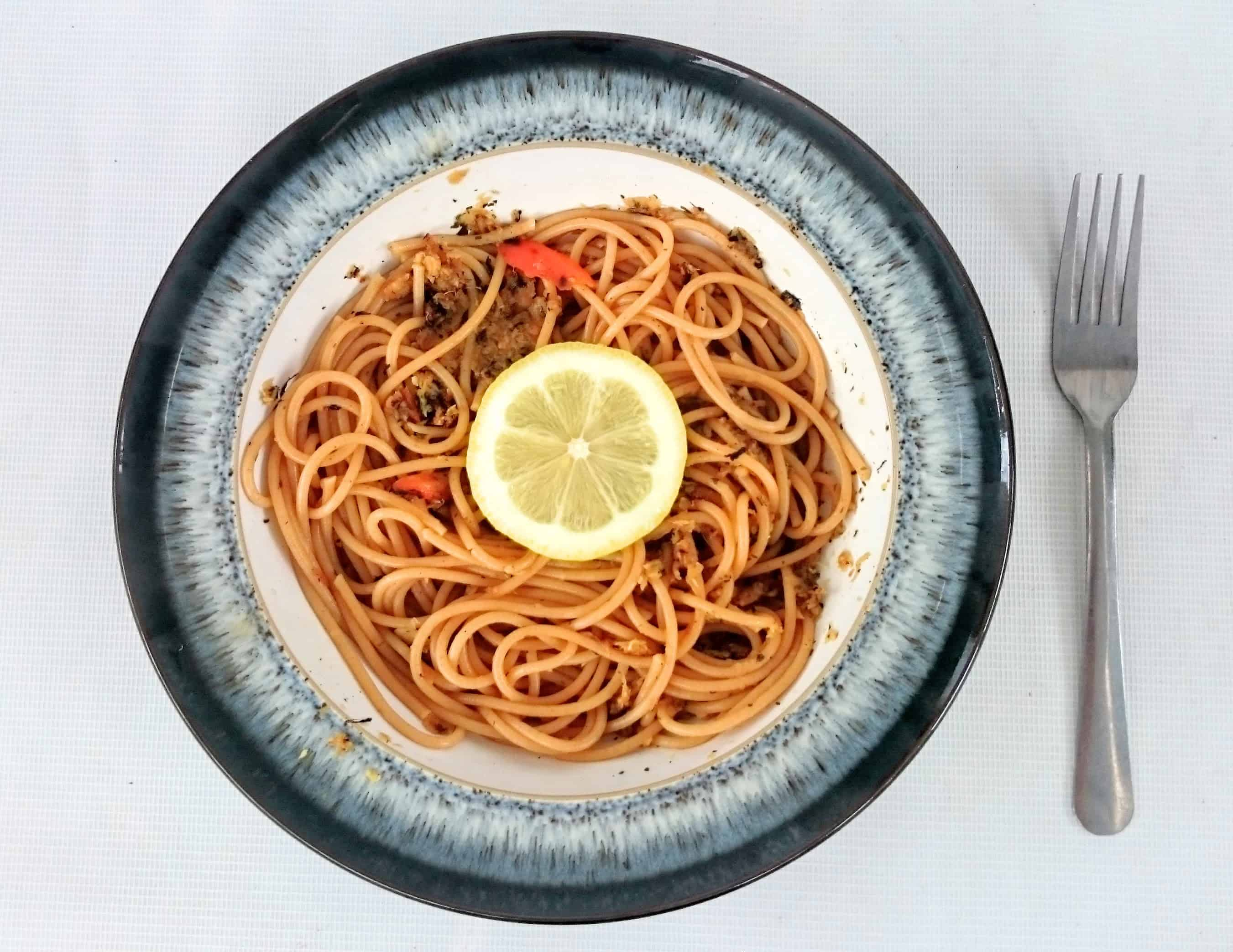 Slimming World Vegetarian & Vegan Syn Free Quick Parnsip, Ginger & Lemon Spaghetti for One