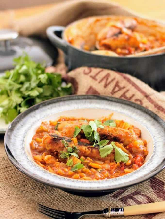 Slimming World Slow Cooker Sausage & Bean Casserole
