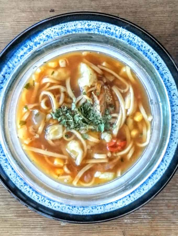 Slimming World Syn Free Fish Noodle Soup Maker Recipe