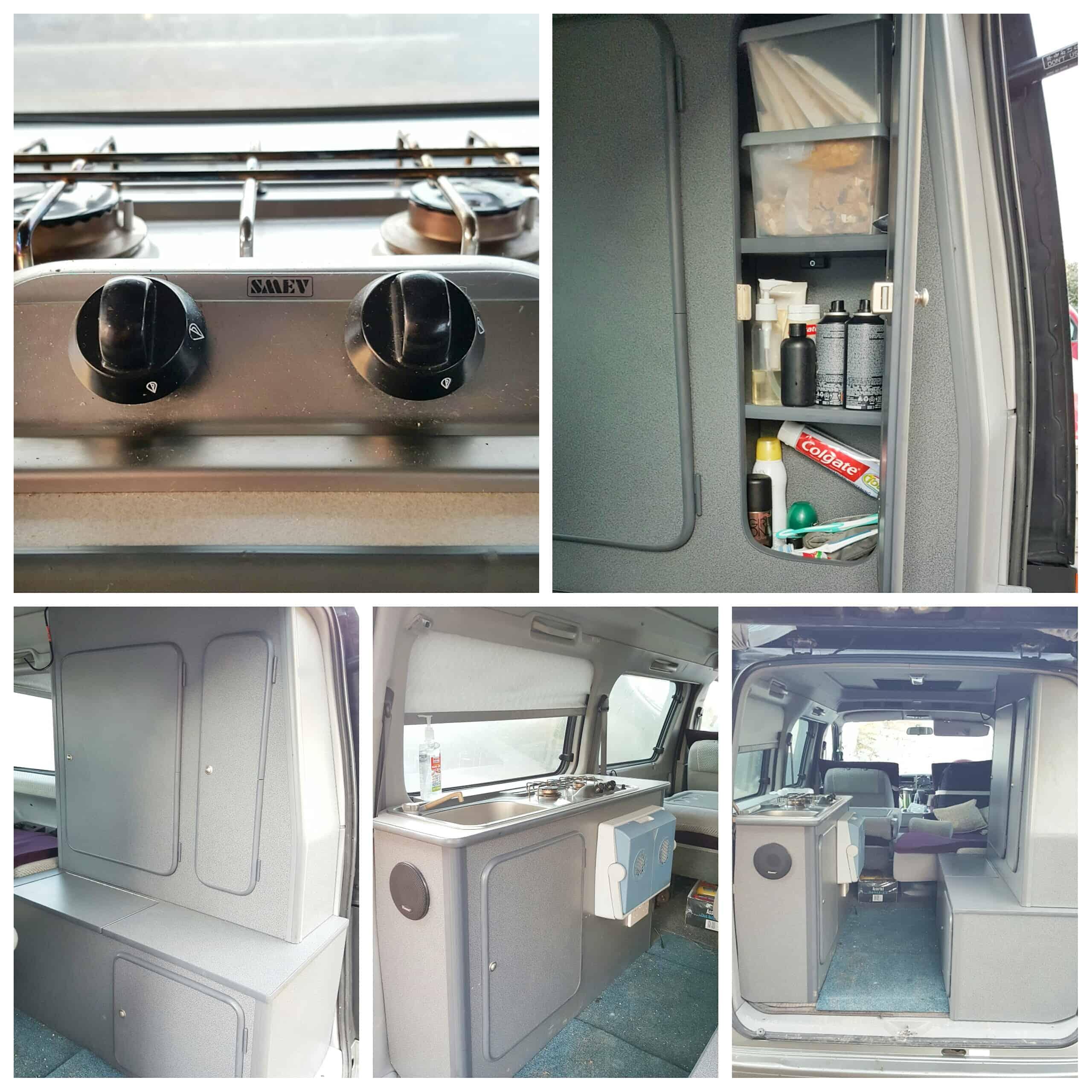 The Mazda Bongo Campervan Kitchen Tour