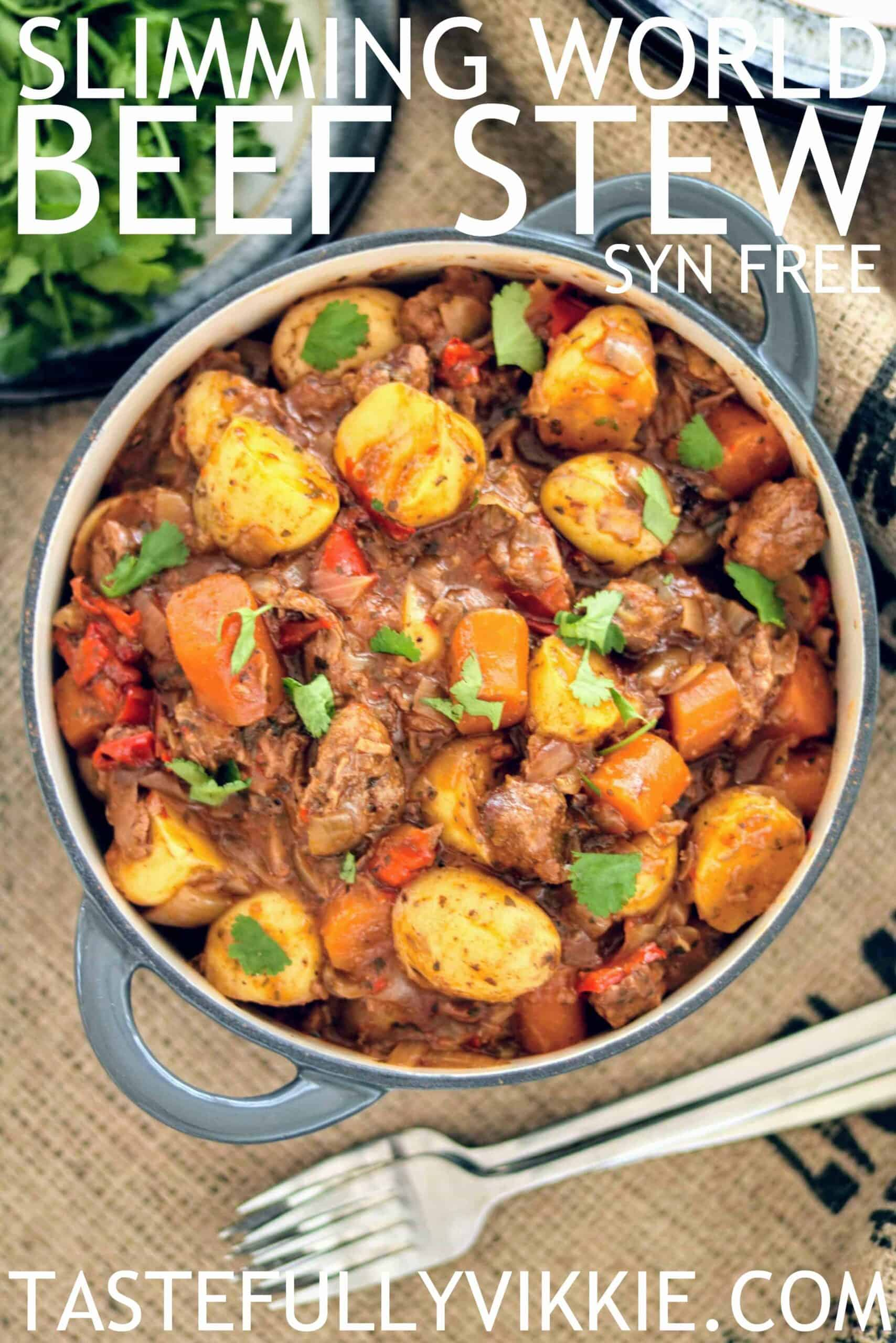 Slimming World Slow Cooker Syn Free Beef Stew Tastefully Vikkie