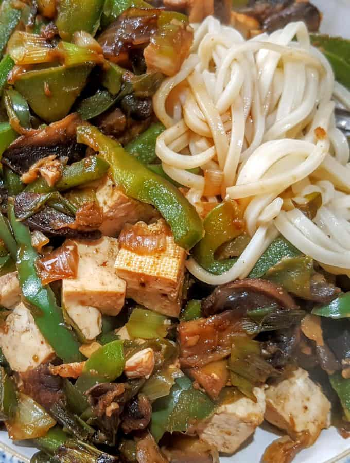 Slimming World 2 Syn Tofu Vegetable Stir Fry - Serves 1 (Vegetarian)