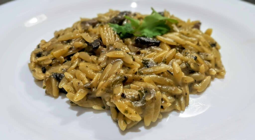 Syn Free Slimming World Mushroom Orzo Risotto Recipe