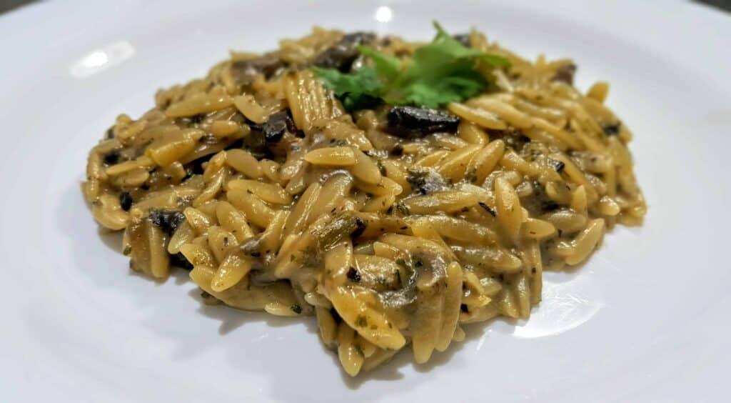 Syn Free Slimming World Mushroom Orzo Risotto Recipe