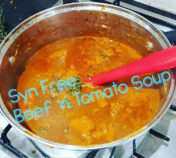 Syn Free Slimming World Beef & Tomato Soup – Serves 4