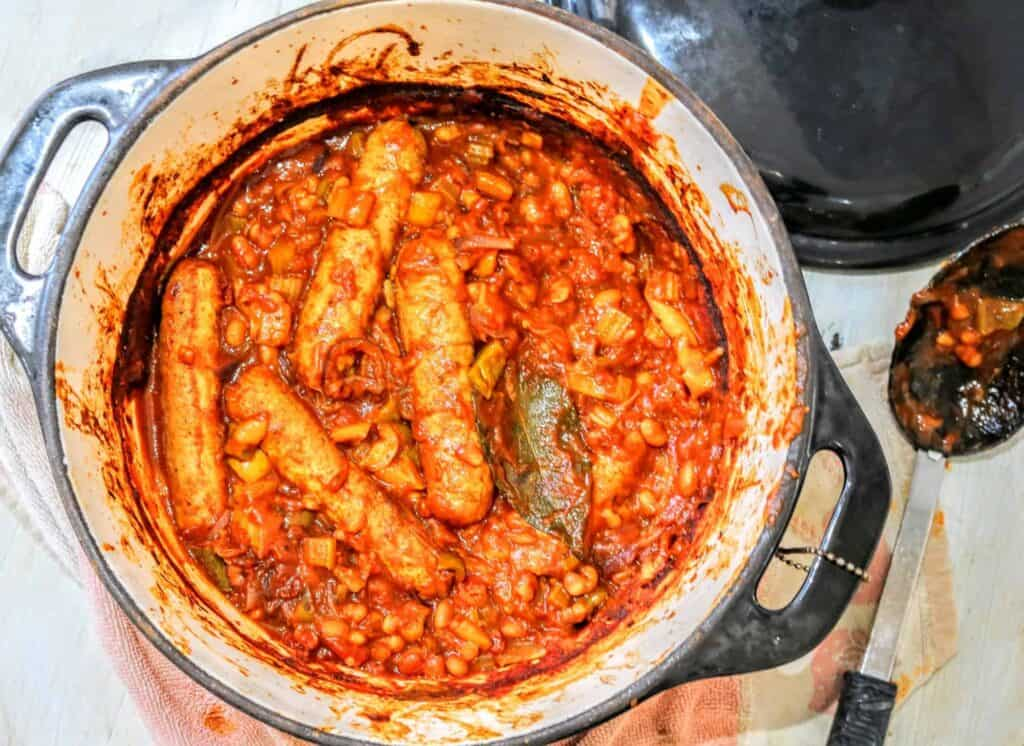 Slimming World Syn Free Iceland Sausage & Bean Casserole Recipe