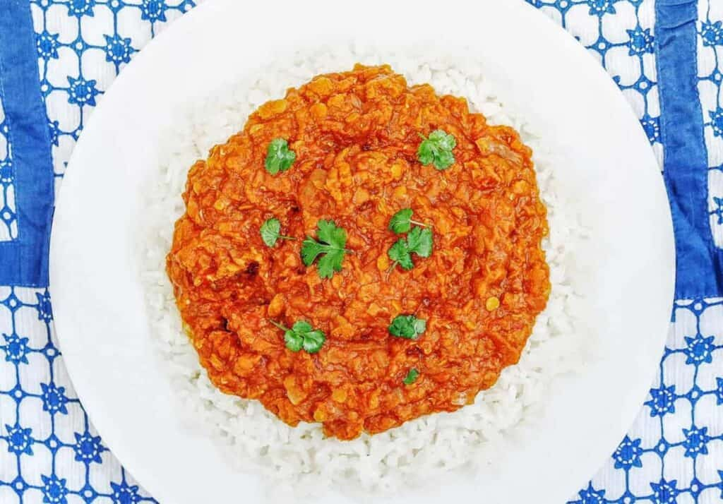 Syn Free Slimming World Slow Cooker Red Lentil Curry (Vegetarian)