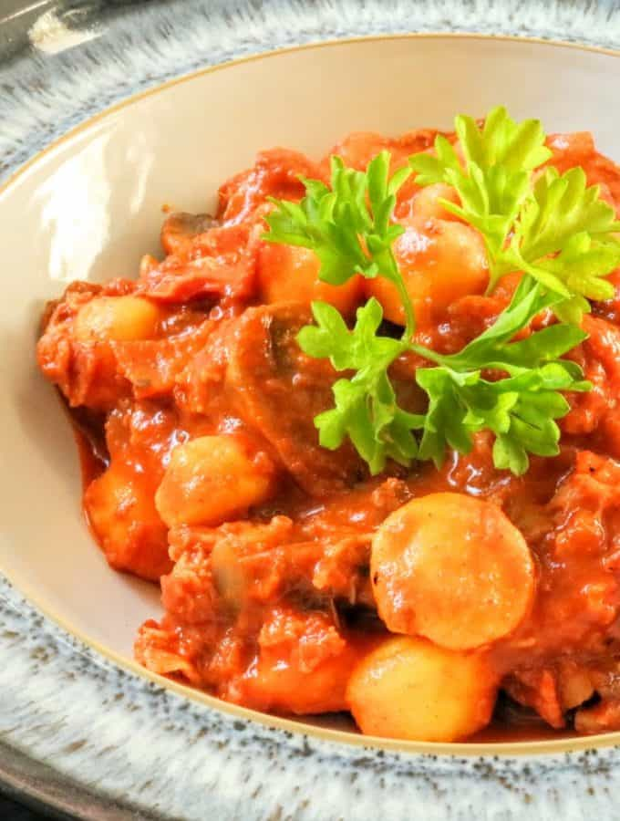Slimming World Chorizo Flavoured Gnocchi Pasta Recipe