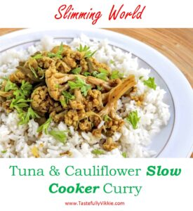 Slimming World Slow Cooker Tuna Cauliflower Curry