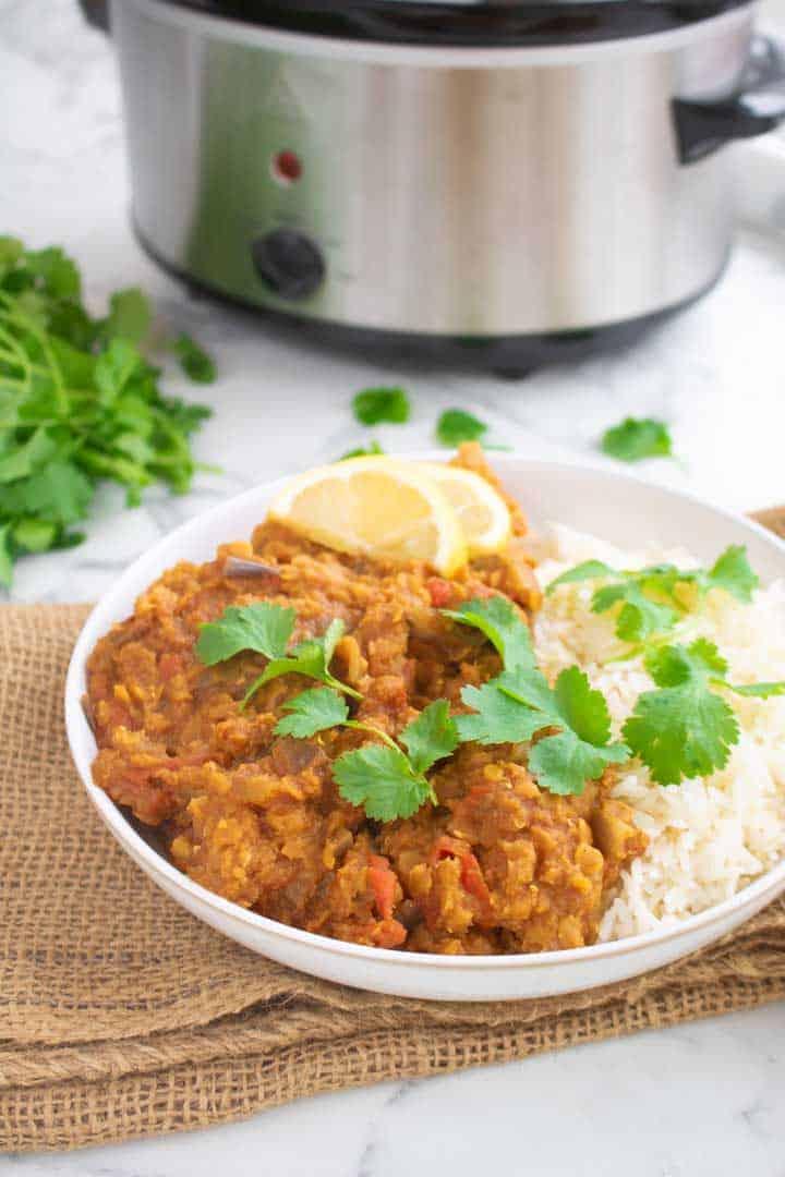 Red Lentil Curry Slow Cooker Slimming World Tastefully