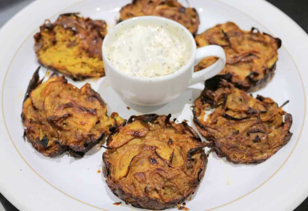 Slimming World Syn Free Baked Onion Bhajis Tastefully Vikkie