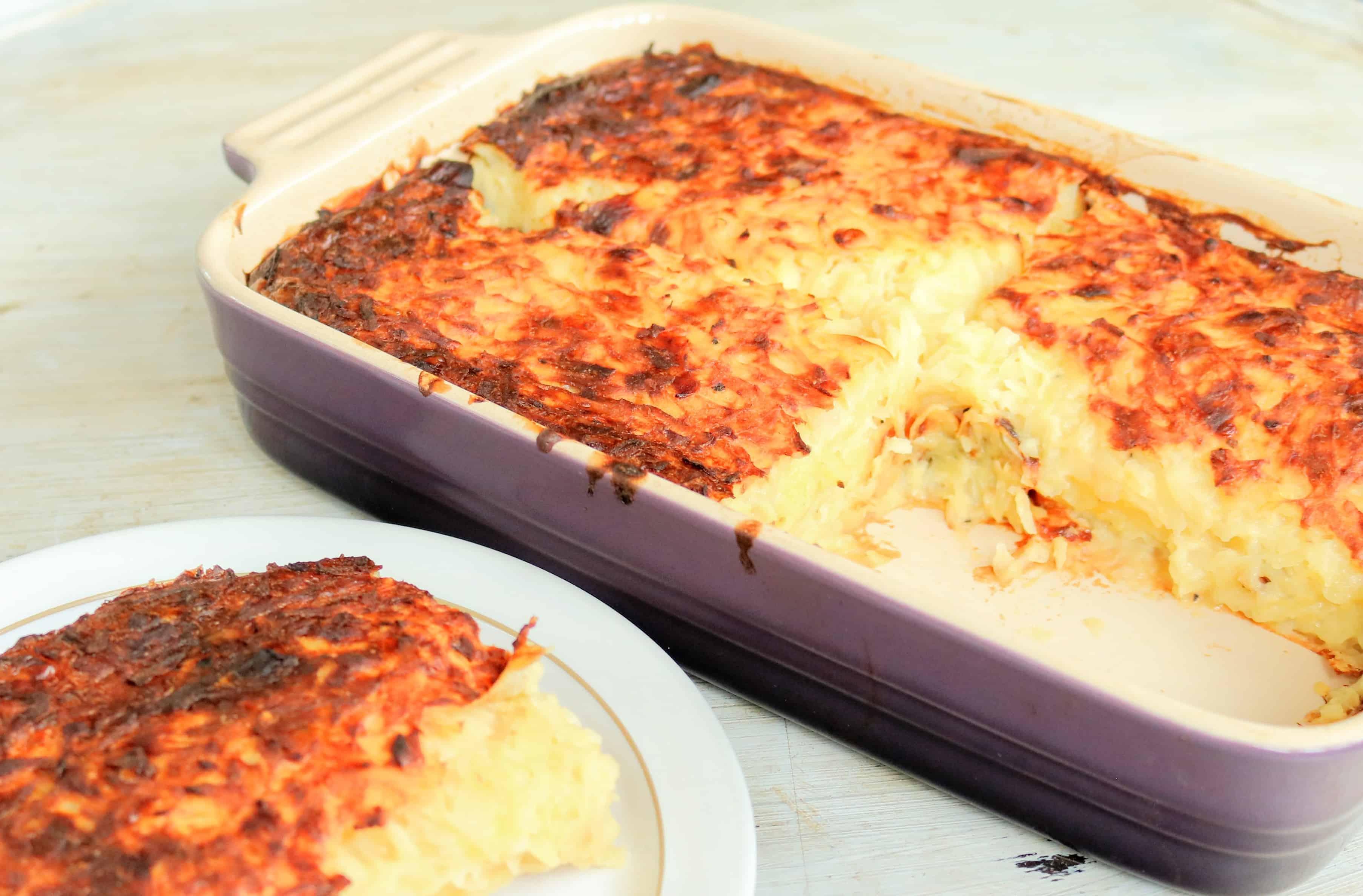 Slimming World Syn Free Jewish Potato Kugel Vegetarian