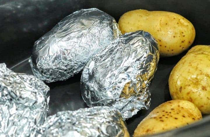 Baked Potatoes in the Slow Cooker