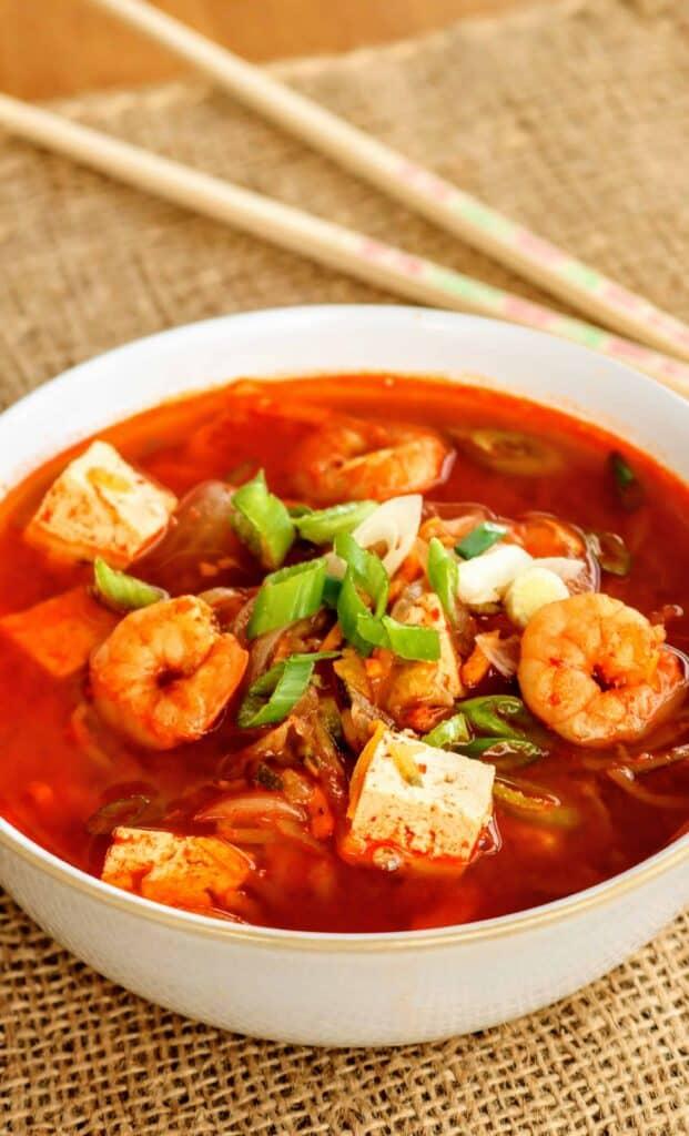 Slimming World Korean Prawn & Tofu Soup