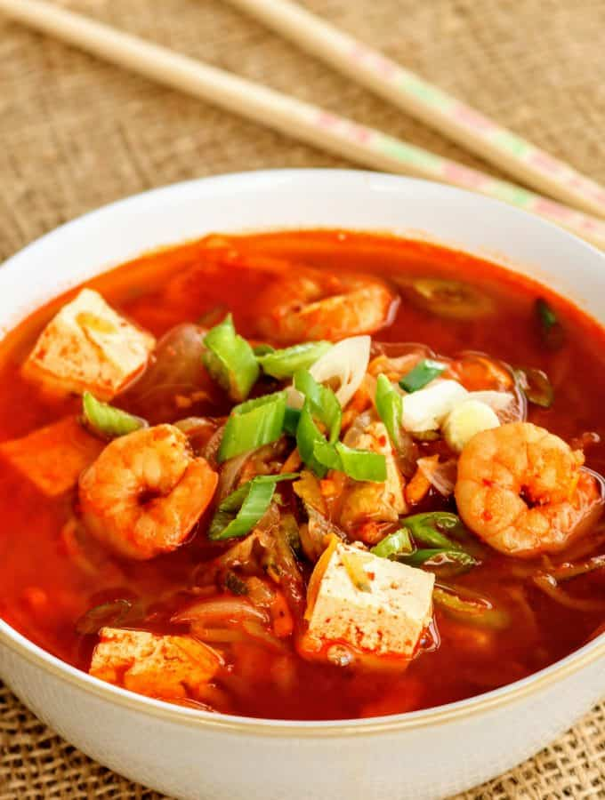 Slimming World Korean Prawn & Tofu Soup