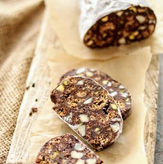 Father's Day No Bake Italian Chocolate Salami