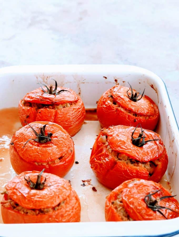 Slimming World Syn Free Chorizo Stuffed Tomatoes (Tomates Farcies)