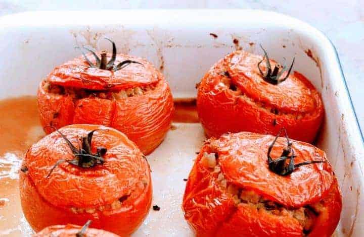 Slimming World Syn Free Chorizo Stuffed Tomatoes (Tomates Farcies)