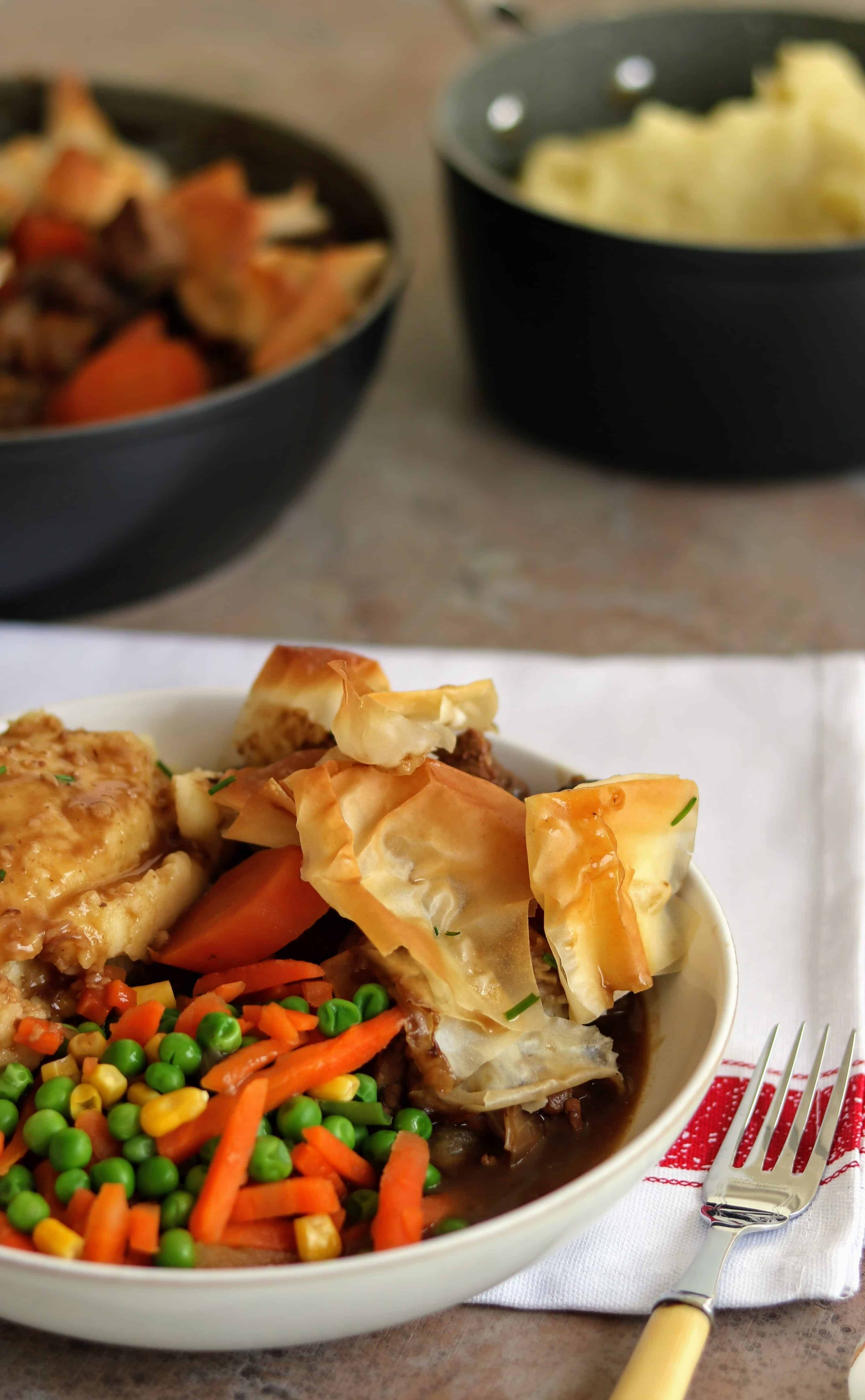 Slimming World One Pan Steak & Ale Filo Pastry Pie ...
