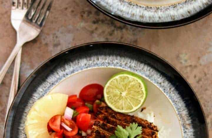 Slimming World Syn Free Caribbean Pork Medallions & Fruity Salsa