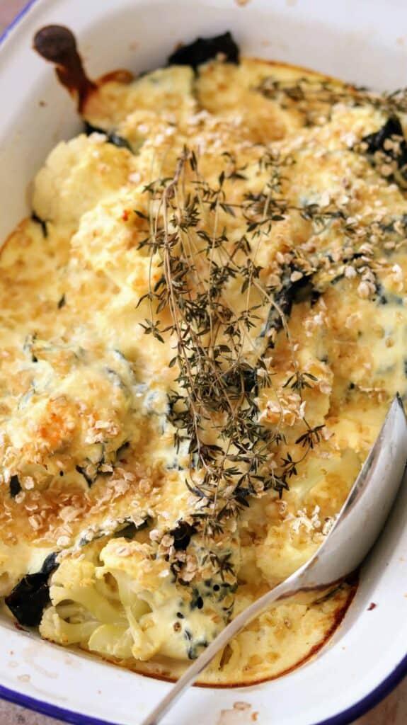 Slimming World Syn Free Kale & Cauliflower Gratin for a Family Roast Dinner