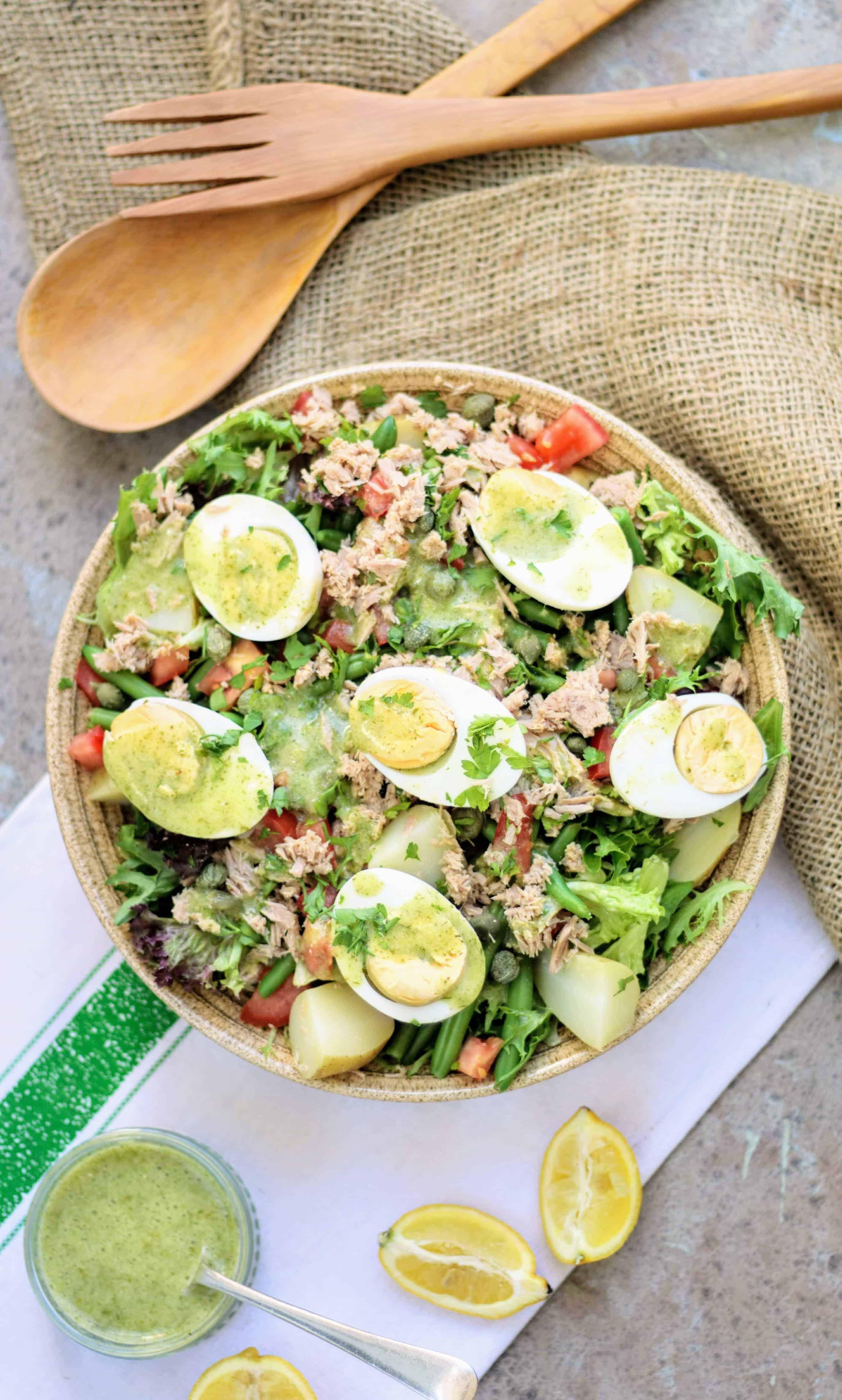 Slimming World Syn Free Fine Herbs Vinaigrette & Niçoise Salad