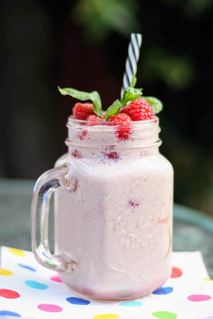 Slimming World 2 Syn Raspberry & Mint Smoothie Recipe