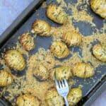 Slimming World Syn Free Hasselback Garlic & Cheese Baby Potatoes