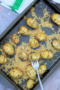 Slimming World Syn Free Hasselback Garlic & Cheese Baby Potatoes