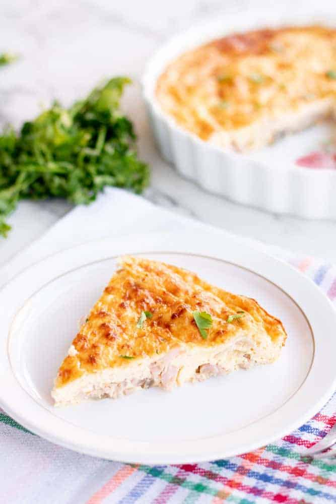 Slice of Slimming World Quiche
