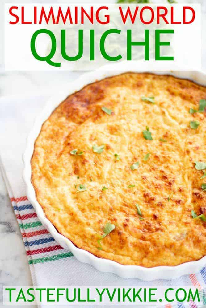 Slimming World Quiche Pinterest Pin