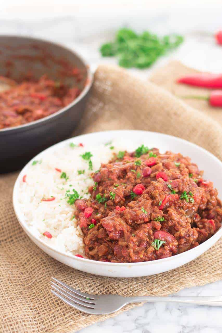 Slimming world chilli con carne on the hob