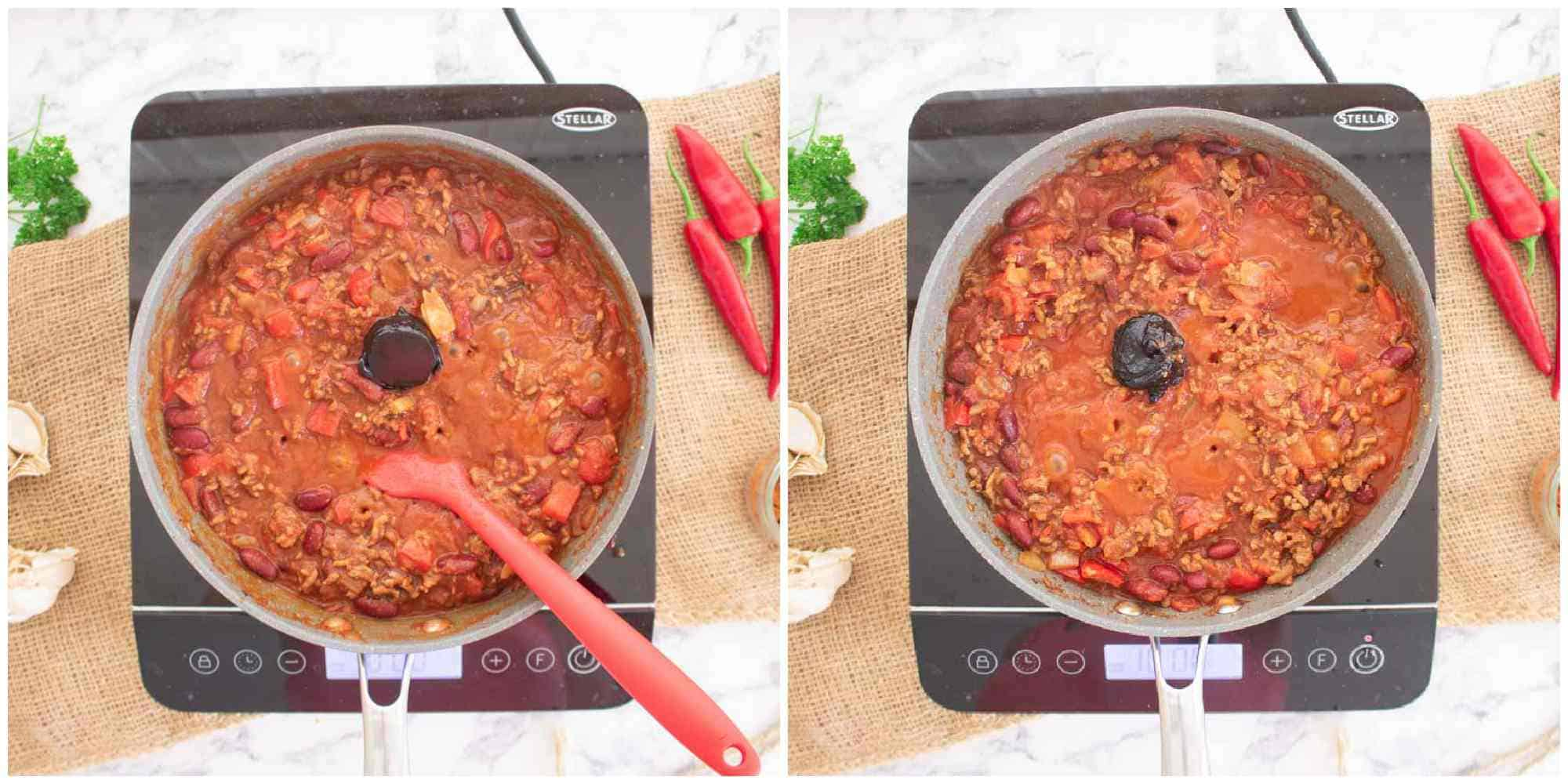 stock pots or beef in chilli beef